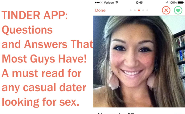 Tinder App Questions Users Have