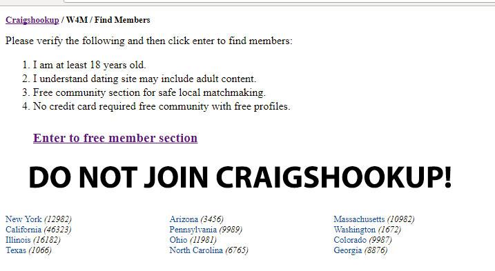 Craigshookup - Do Not Join