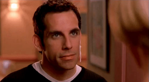 Ben Stiller jizz on ear